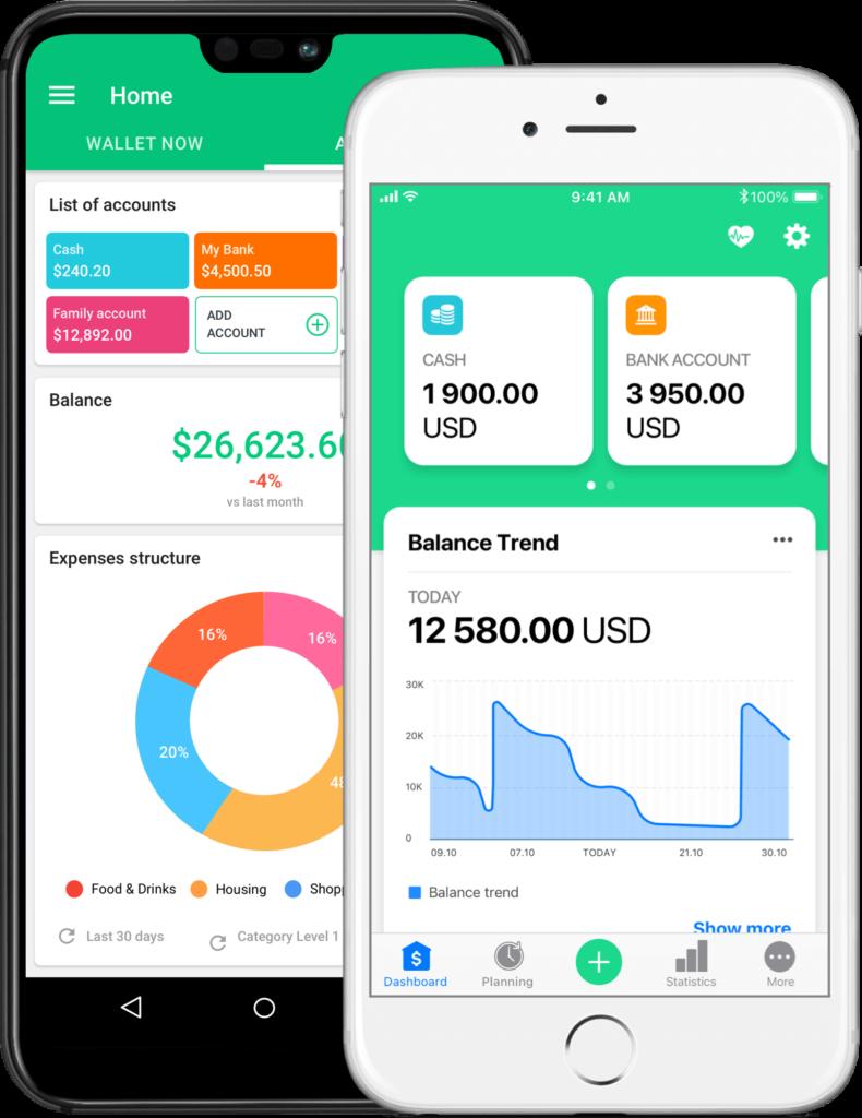 wallet app gestion budget